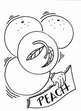 Peaches Coloring Pages Lifeguard Painting sketch template