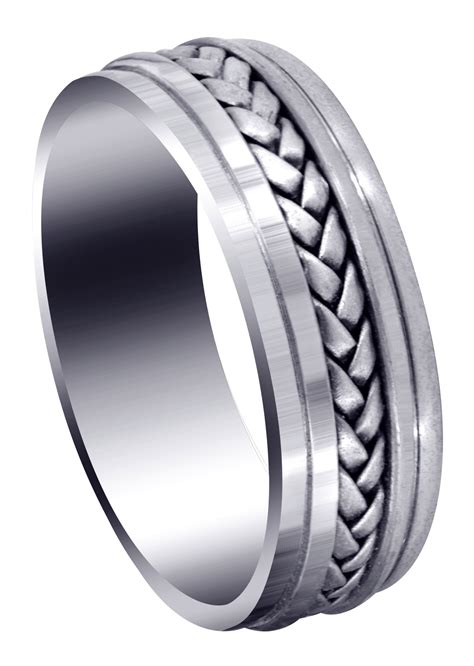 woven mens wedding band satin finish cole frostnyc