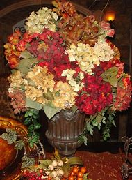 Red and Gold Flower Arrangement