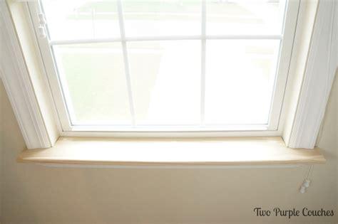 replace  interior window sill  purple couches
