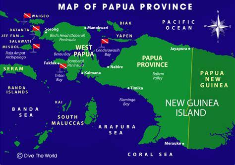 west papua  papua province map raja ampat sorong
