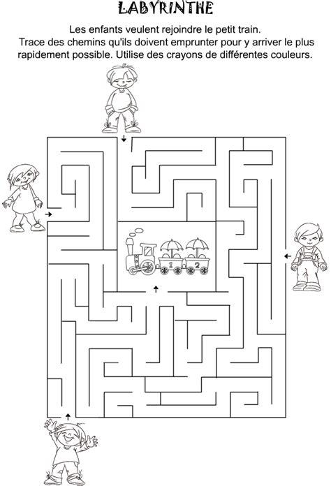 jeu  imprimer labyrinthe pour enfants de maternelle