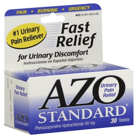 66153 Azo Urinary Relief Coupon by Azo Standard Urinary Relief Tablets 30 Tablets