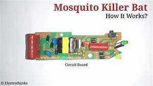 Mosquito Killer Bat Circuit Working Explanation