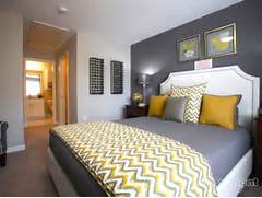 Yellow And Grey Bedroom Idea Chevron Throw I Love This Dark Grey Gray Yellow Bedroom Blue Yellow And Gray Master Bedroom Blue Gray And Gray And Yellow Chevron Bedding Okay So It S Not Finished By Any Means However It Looks A