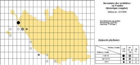 chambre d agriculture poitou charente 85 epipactis phyllanthes fiche cartographique pour la