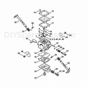 Stihl 021 Chainsaw  021  Parts Diagram  Carburetor Wt