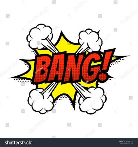Bang Comic Text Speech Bubble Vector Stock