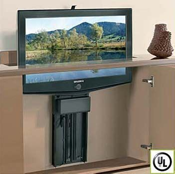 wood technology whisper ride  flat panel tv lift