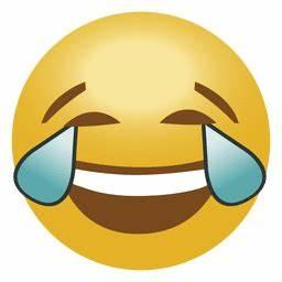 Laugh drop emoji emoticon - Transparent PNG & SVG vector