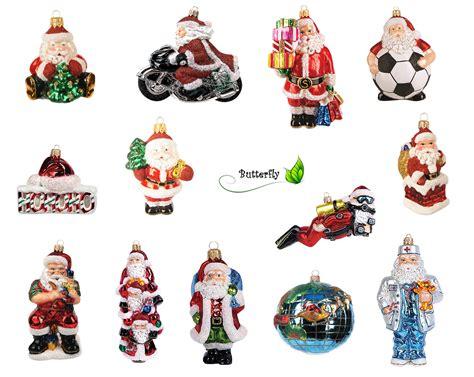 christbaumschmuck figuren weihnachtsm 228 nner glas