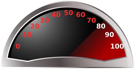 vector graphic tachometer speedometer gauge