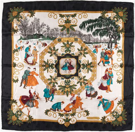hermes silk scarf joies dhiver  authentic ebay