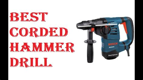 corded hammer drill  youtube
