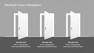 Multiple Doors Metaphor Free Powerpoint Template