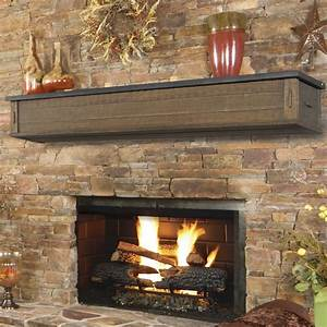 Pearl Mantels Austin 2 Drawer Fireplace Shelf Mantel