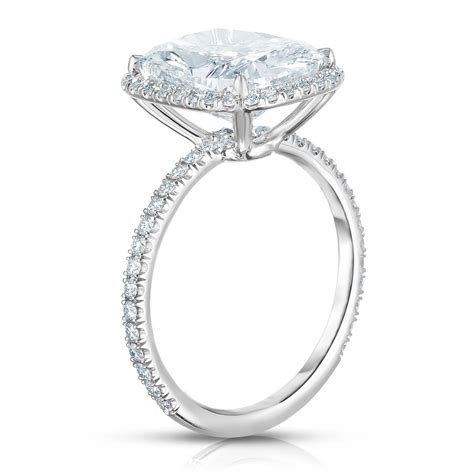 cushion cut halo engagement ring ring concierge