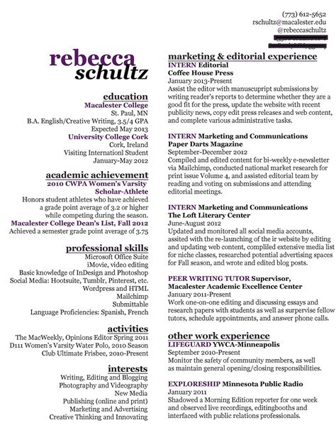 Contents Of Resume by Creative Resume Writing Resume Marketing Resume