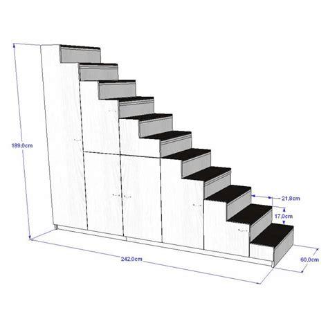 meuble escalier pour mezzanine avec rangements sur mesure plusdeplace fr