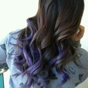 Brown Hair With Tips by Brown Curly Hair With Purple Tips For