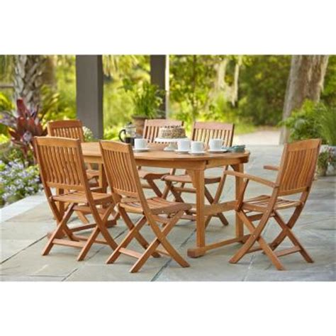 hton bay adelaide eucalyptus 7 patio dining set