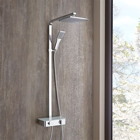 si scrive docce o doccie colonna doccia moderna completa di miscelatore