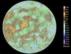 New elevation map of Mercury shows off the planet's surface.