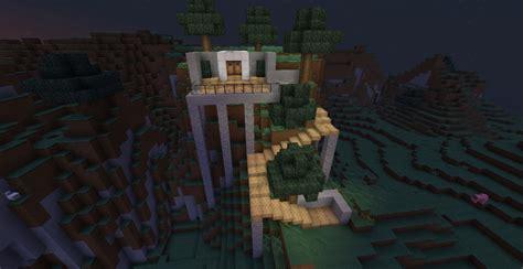 modern mountain house minecraft map