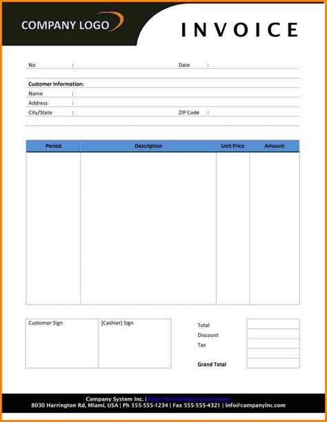 bill template word 5 bills format in word simple bill
