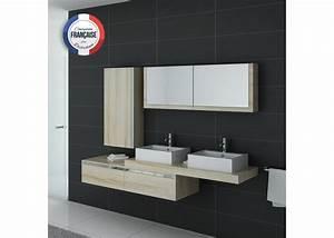 Meuble Vasque Double : meuble scandinave pour salle de bain 2 vasques meuble scandinave pour salle de bain ref dis9551sc ~ Teatrodelosmanantiales.com Idées de Décoration