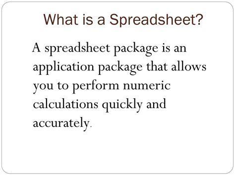 spreadsheets powerpoint