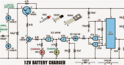 electrical engineering world  volt battery charger