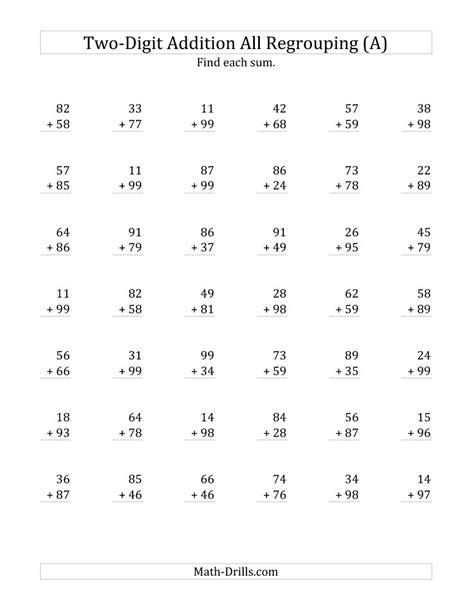 second grade digit math worksheets homeshealth info