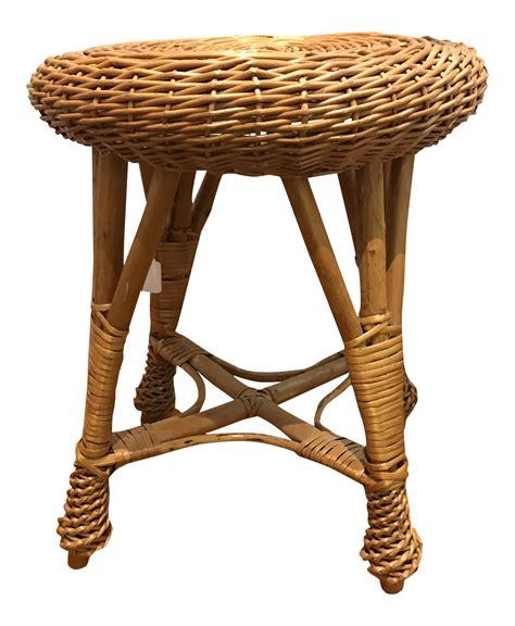 boho chic wicker stool chairish