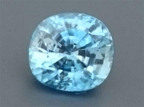 light blue gemstone 3 02ct light blue zircon gemstone