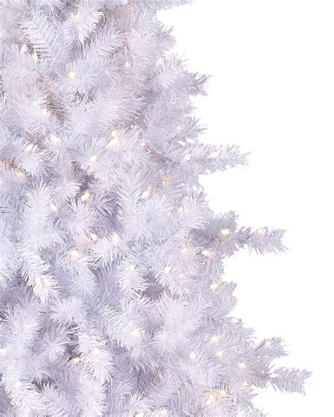 Prelit Christmas Tree Sale by Moonlight White Tinsel Artificial Christmas Tree Treetopia