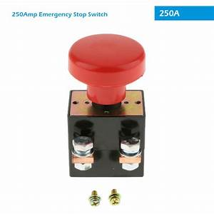 12v 250a Amp Emergency Disconnect Shut Off Switch Manual