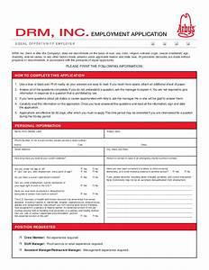 free printable ihop job application form