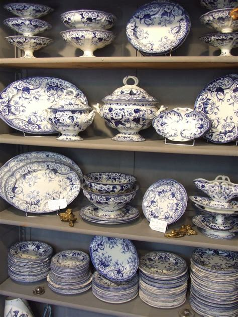 French Collectibles  Blue And White Flora  My French