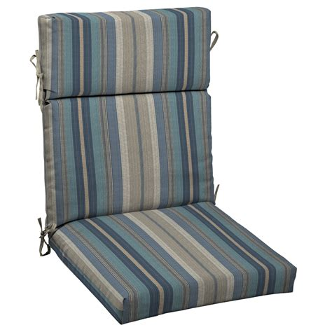 shop allen roth stripe blue standard patio chair cushion