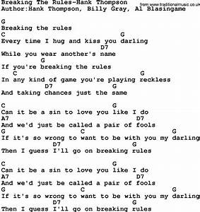 Country Music:Breaking The Rules-Hank Thompson Lyrics and ...