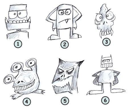 drawing cartoon monsters