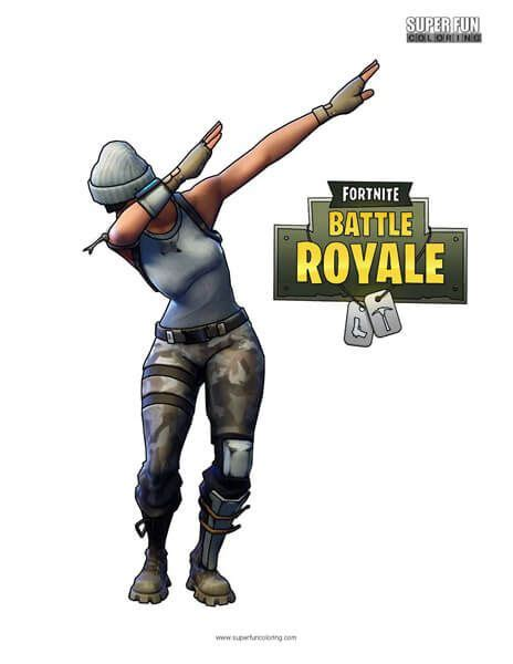 fortnite dab coloring page   cool coloring pages