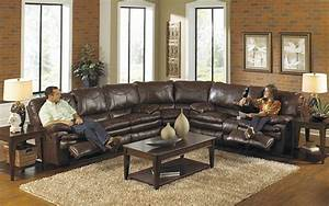 Buy large sectional sofas perfect for your large living for Sectional sofas with 4 recliners