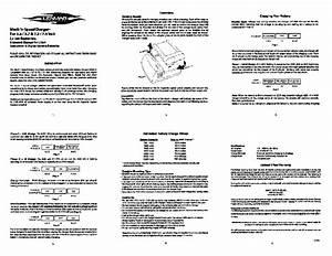 Mach 1  Speedcharger 7 4 Volt Manuals
