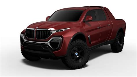 bmw pickup truck design study  doesnt   bad