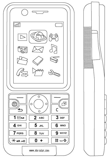 Coloring Mobil by Cell Phone Coloring Pages Coloring Home