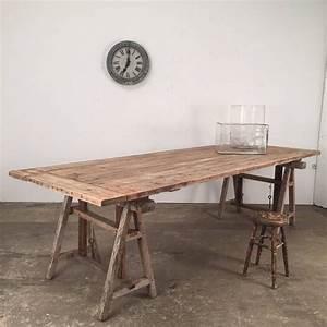 Tréteaux Pour Table : jolie table tr teaux ajustable en sapin d lav d co en 2019 ~ Melissatoandfro.com Idées de Décoration