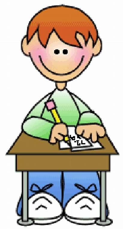 Writing Math Boy Homework Clipart Desk Daily