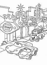 Coloring Pixar Cars Disney Colouring Popular sketch template